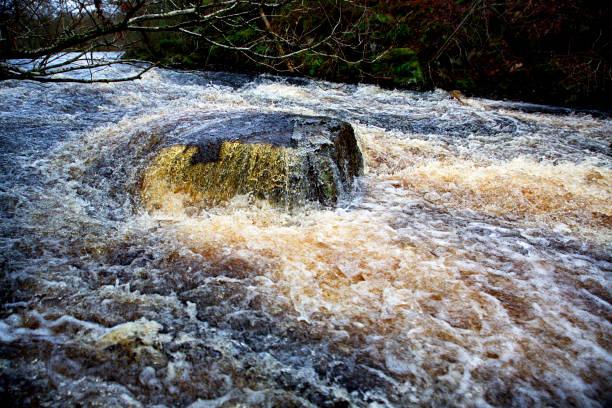 Waterfall, raging water stock photo