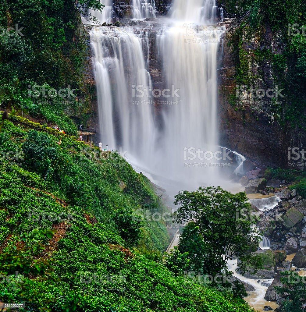 waterfall Ramboda stock photo