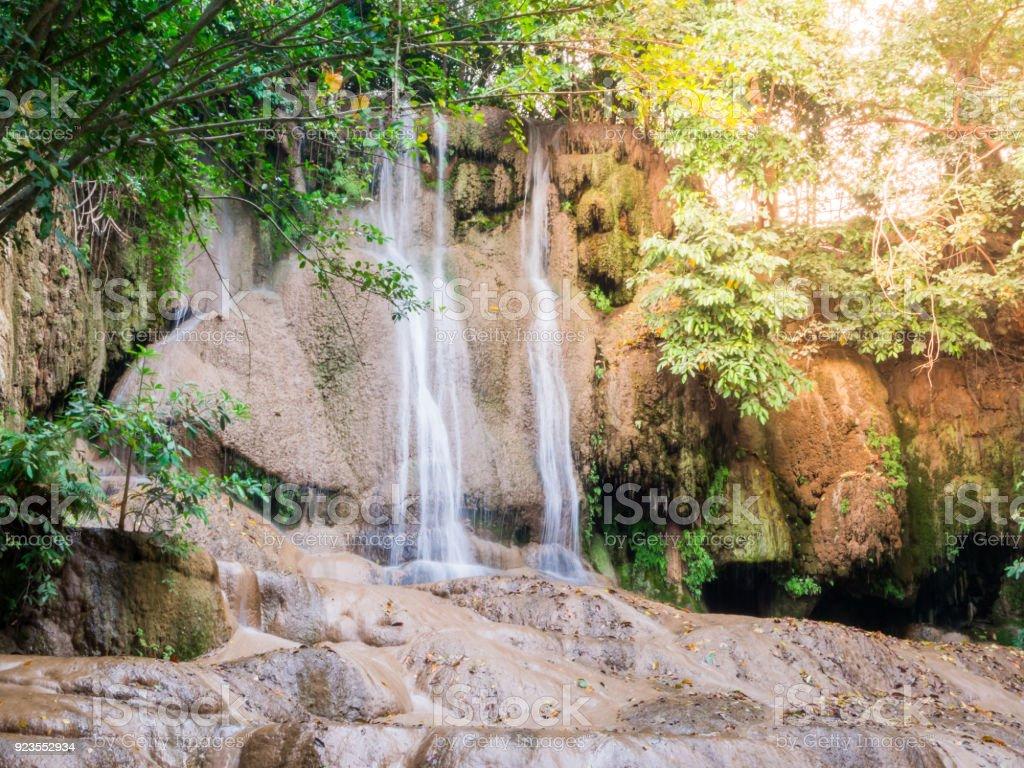 Waterfall river landscape stock photo
