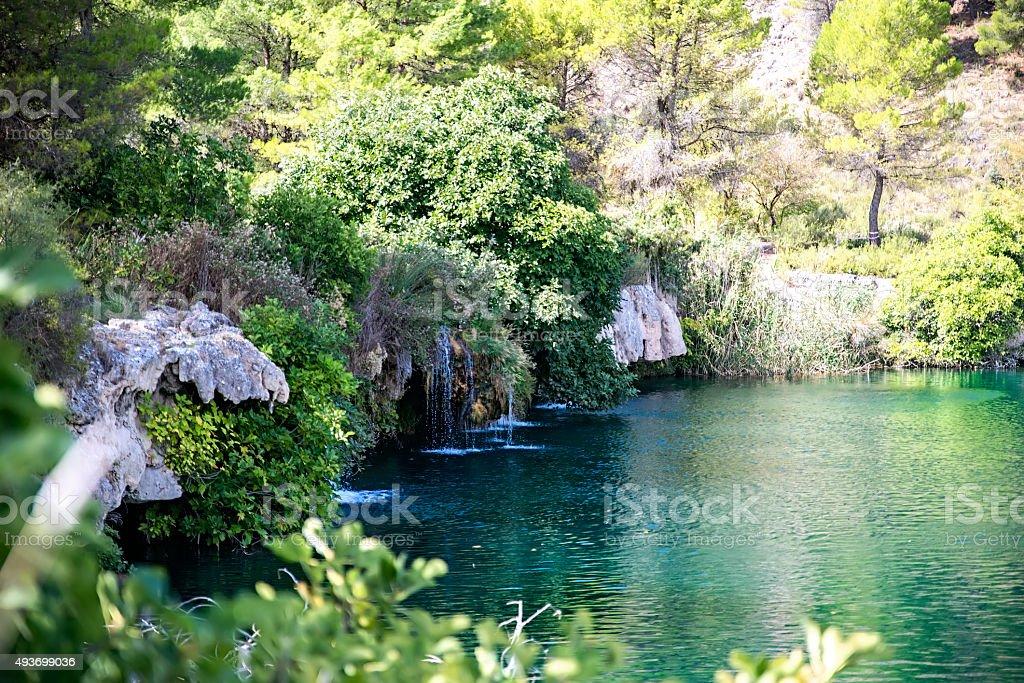 Waterfall Ruidera stock photo