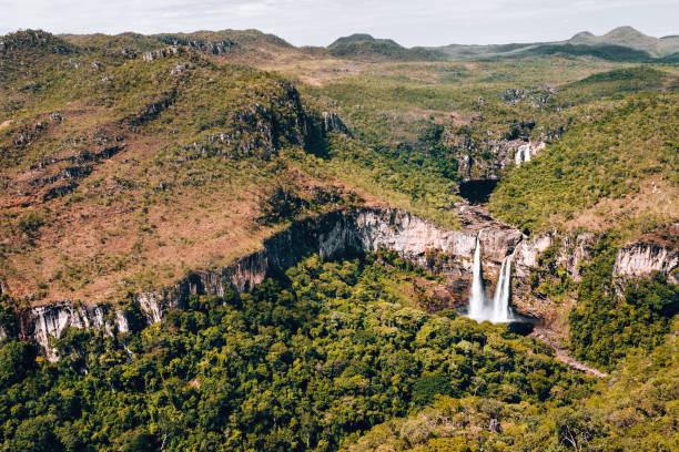 Waterfall Saltos do Rio Preto – Chapada dos Veadeiros – Goiás Waterfall Saltos do Rio Preto – Chapada dos Veadeiros – Goiás goias stock pictures, royalty-free photos & images
