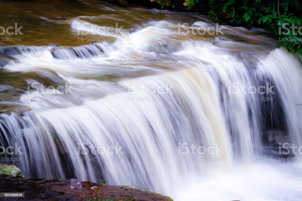 THANTHONG Waterfall Sangkhom District, Nong Khai THAILAND stock photo