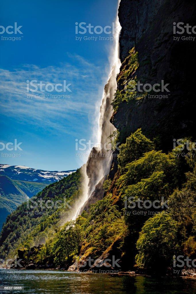 Waterfall Seven Sisters. foto de stock libre de derechos