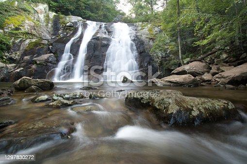 Waterfall - shenandoah national park - blue ridge mountains - White Oak Canyon Trail