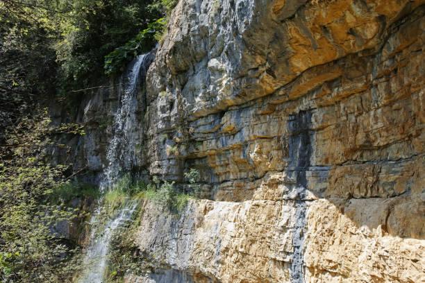 Balkan Dağları'ndaki Skaklya Şelalesi, Bulgaristan stok fotoğrafı