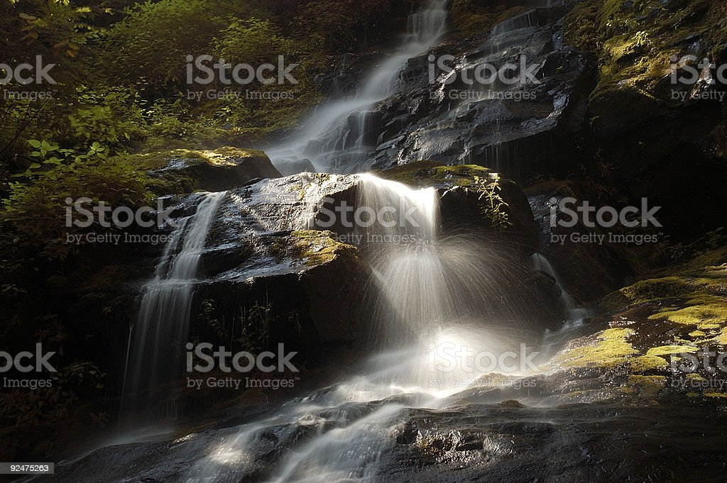 Waterfall - Smoky Mountain National Park royalty-free stock photo