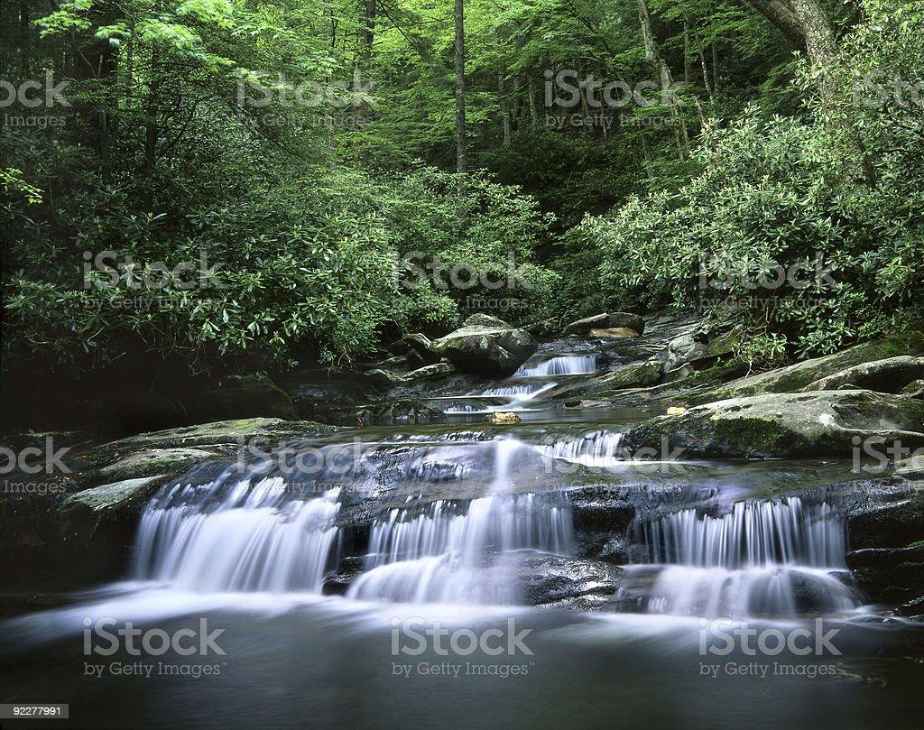 Waterfall, Smoky Mountains royalty-free stock photo