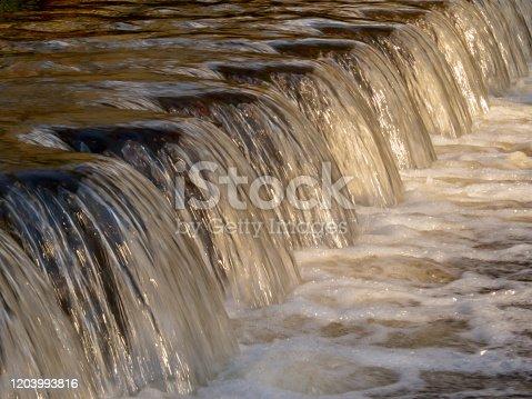 istock Waterfall Stream over Weir 1203993816