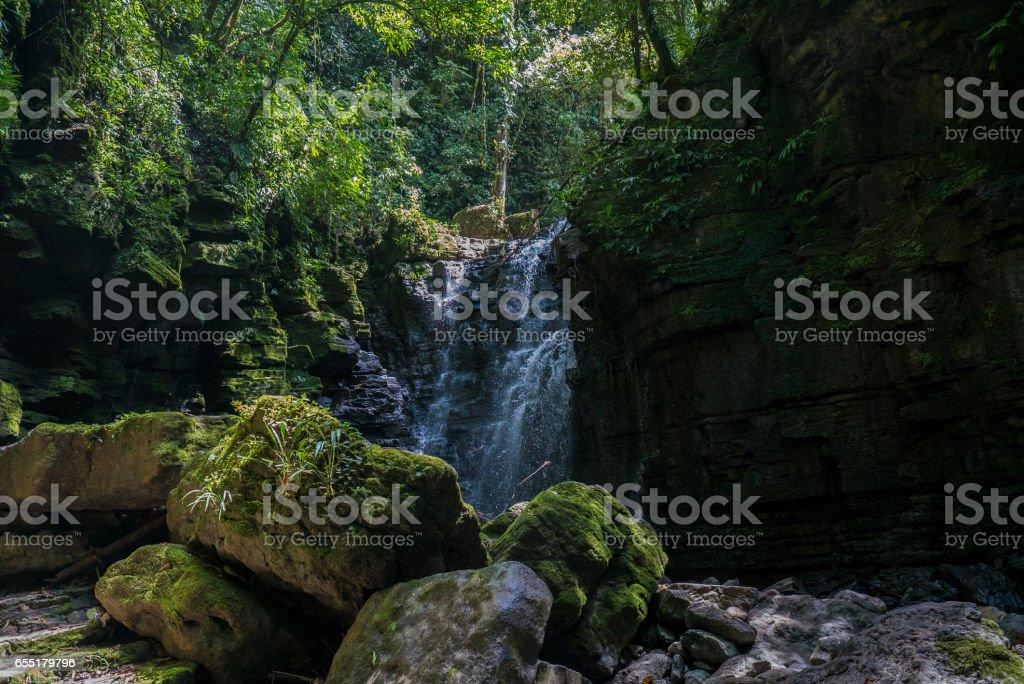 waterfall Tena stock photo