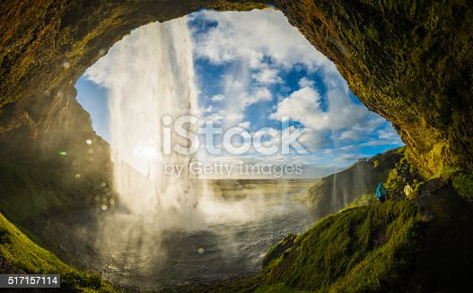 istock Waterfall tumbling into river above cavern mouth Seljalandsfoss Iceland 517157114