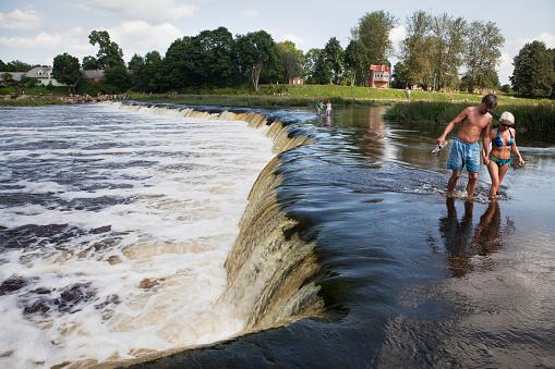 Waterfall Ventas Rumba in  Kuldiga, Latvia