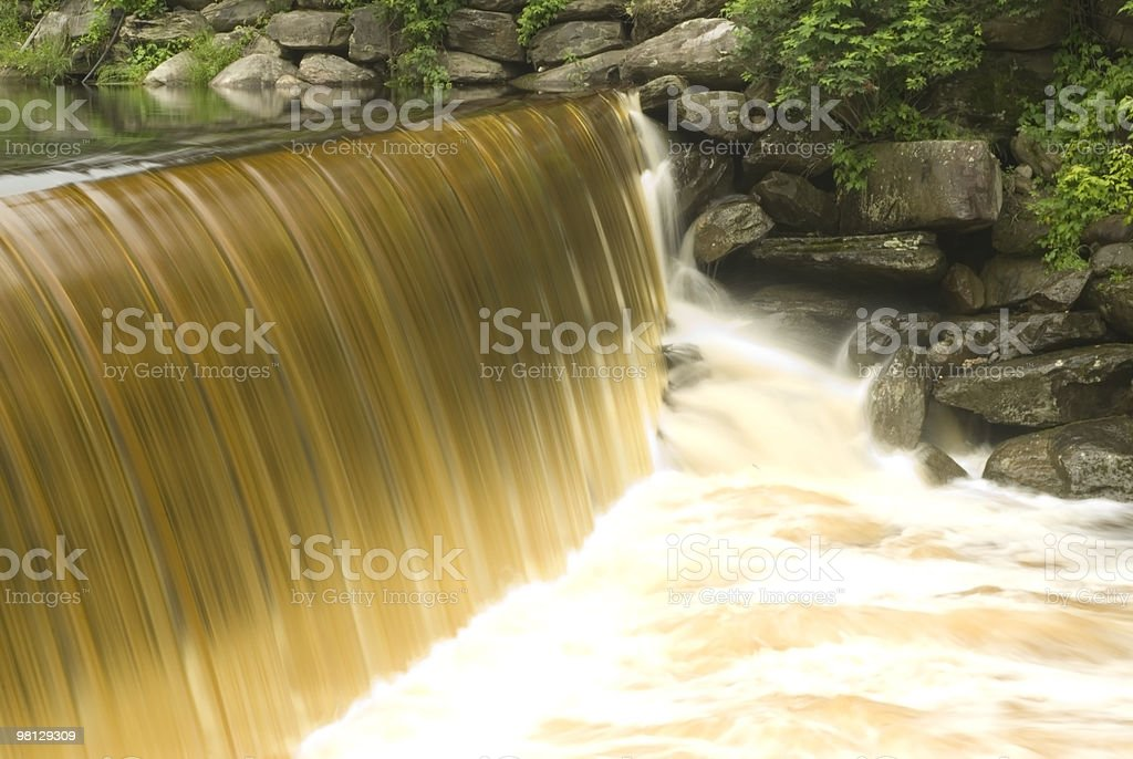 waterfall view from watermill royalty-free stock photo