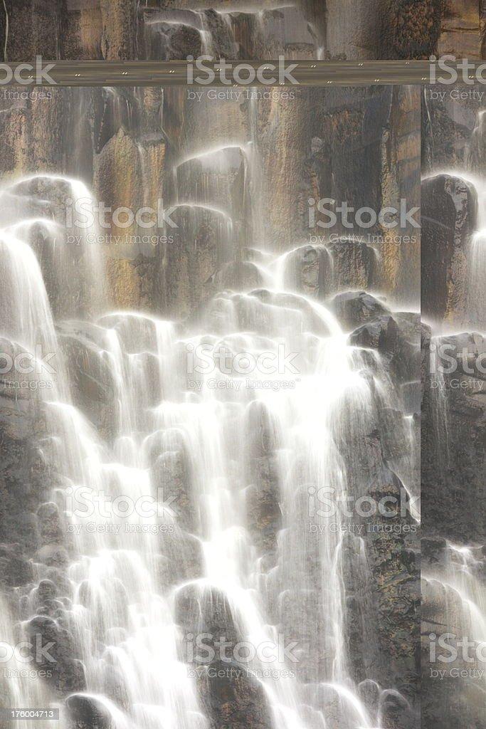 Waterfall Volcanic Cliff Cascade stock photo