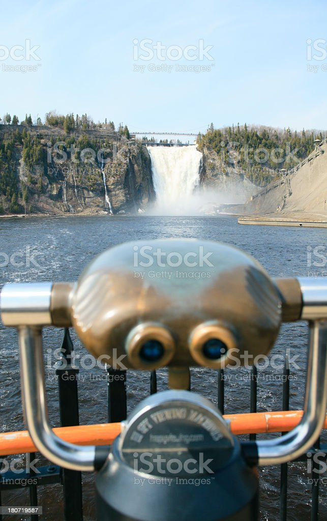 Waterfall Watching Machine Vertical stock photo
