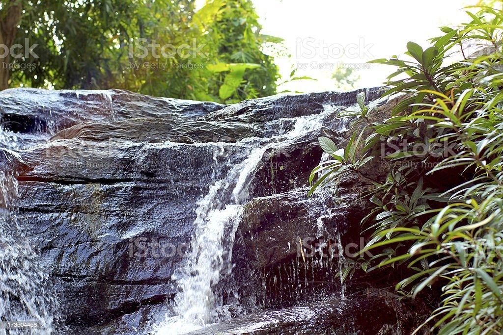 Waterfall with Rainbow royalty-free stock photo