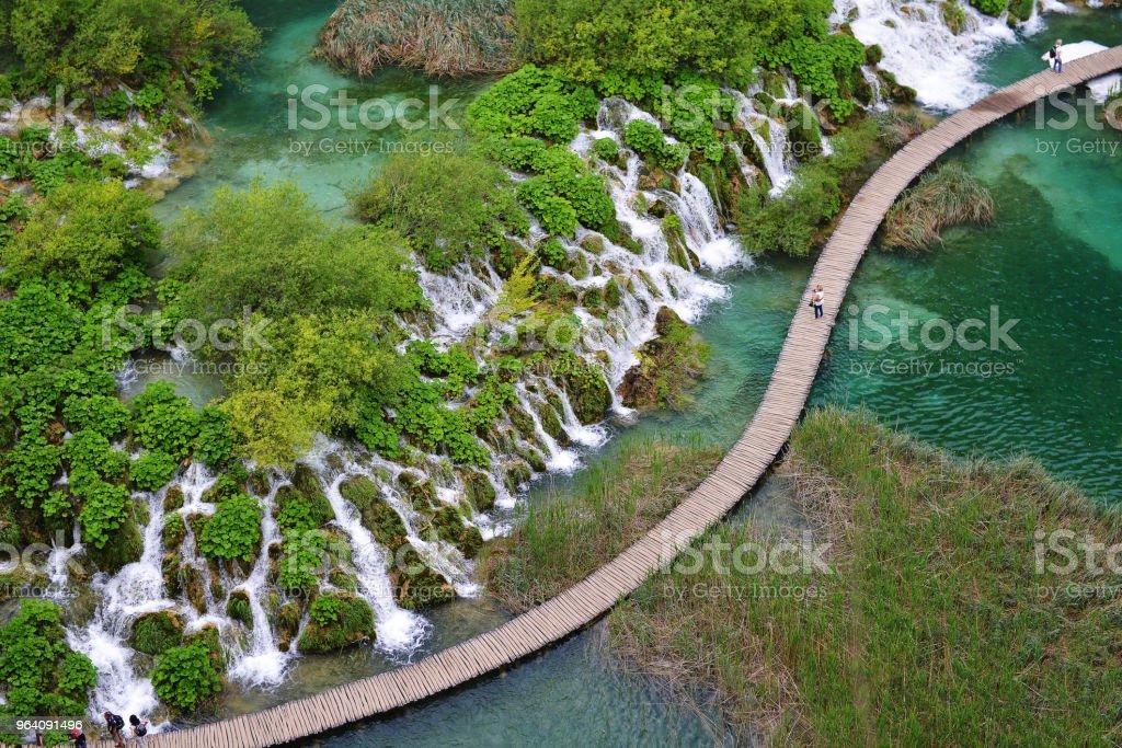 waterfalls  and bridge - Royalty-free Bridge - Built Structure Stock Photo