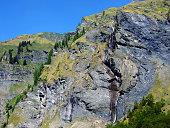 Waterfalls and Cascades in the Weisstannental Valley - Canton of St. Gallen, Switzerland