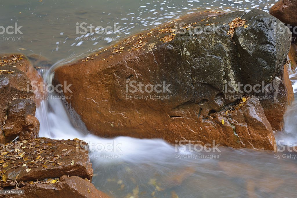 Waterfalls and Red Rocks royalty-free stock photo