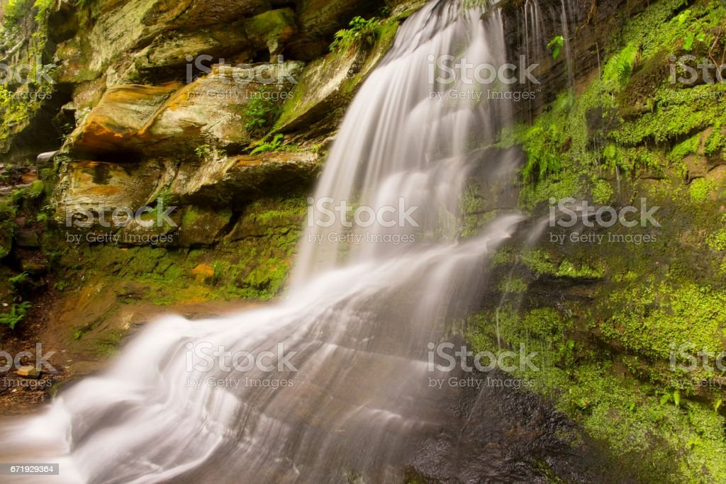 Waterfalls at Hocking Hills State Park in Ohio stock photo