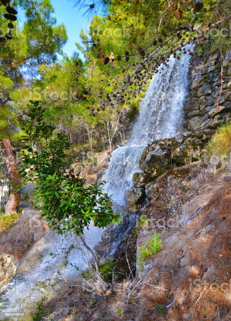 waterfalls at Loutraki Greece royalty-free stock photo