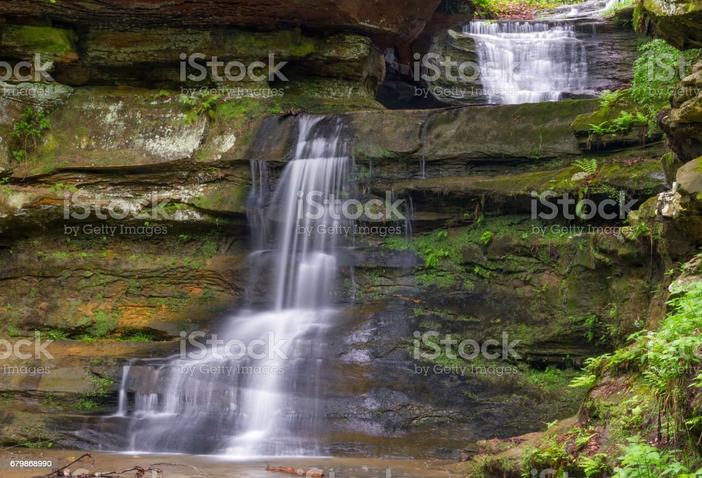 Waterfalls at Old Man's Cave stock photo