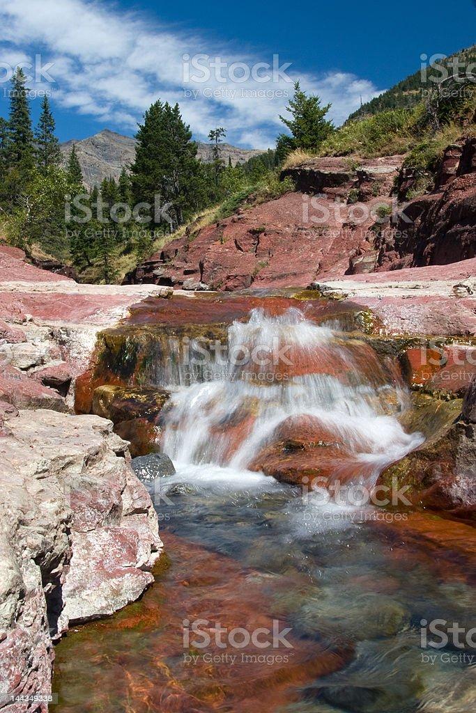 Waterfalls at Red Rock Canyon stock photo