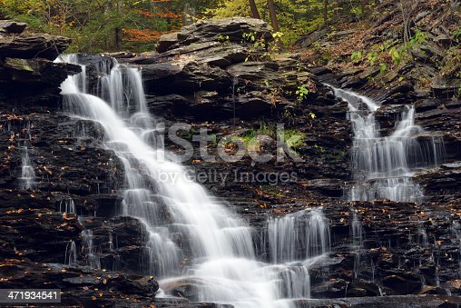 Waterfalls at Ricketts Glen State Park, Pennsylvania, USA