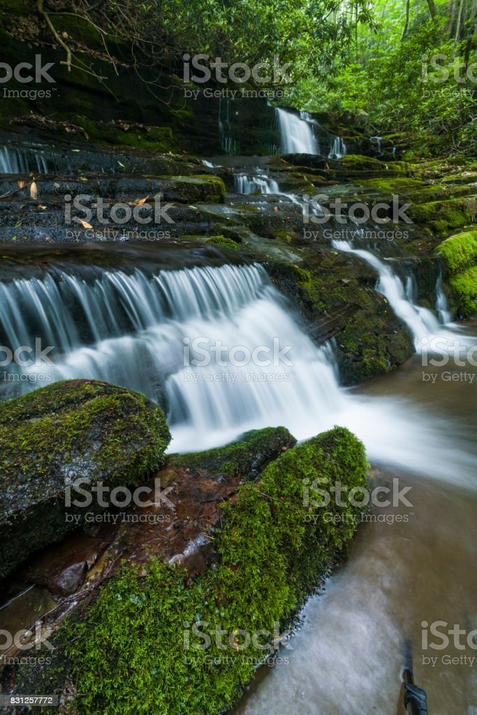 Waterfalls, Greenbrier, Great Smoky Mountains stock photo