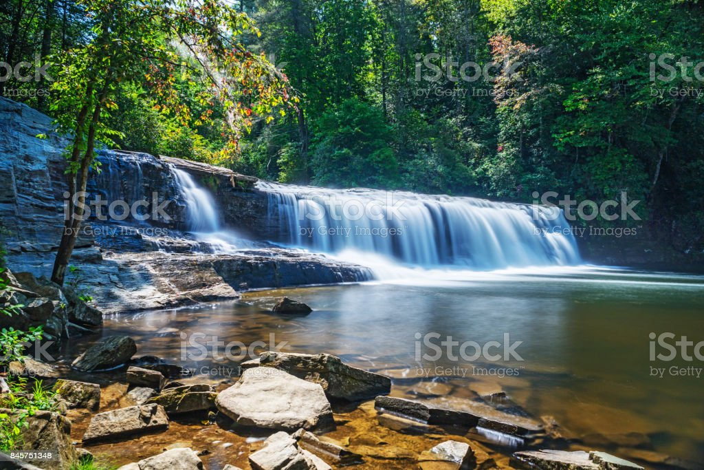 WaterFalls in Dupont State Forest North Carolina stock photo