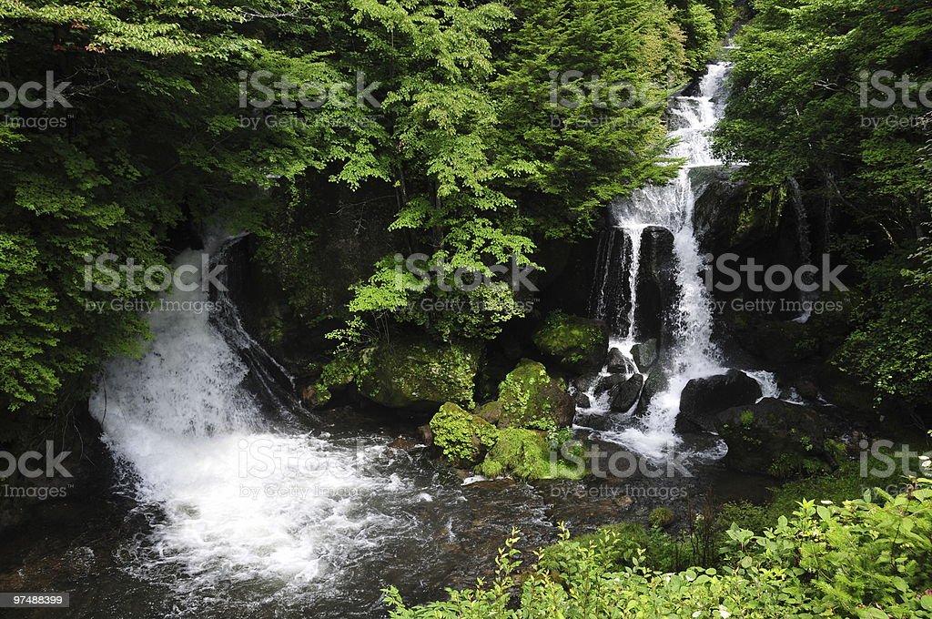 Waterfalls in Nikko royalty-free stock photo