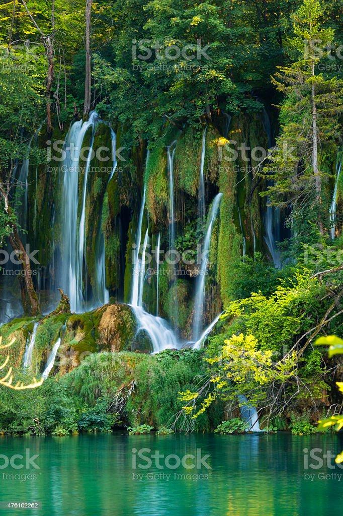 waterfalls in plitvice lakes national park croatia stock