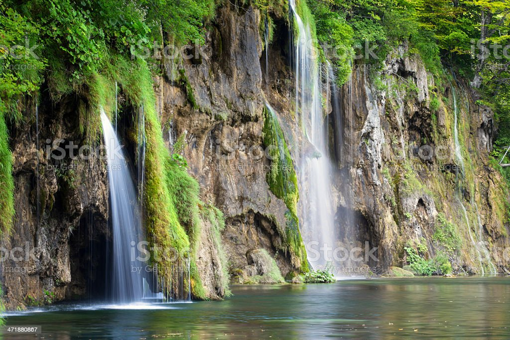 Waterfalls in Plitvice Lakes National Park (Croatia) royalty-free stock photo