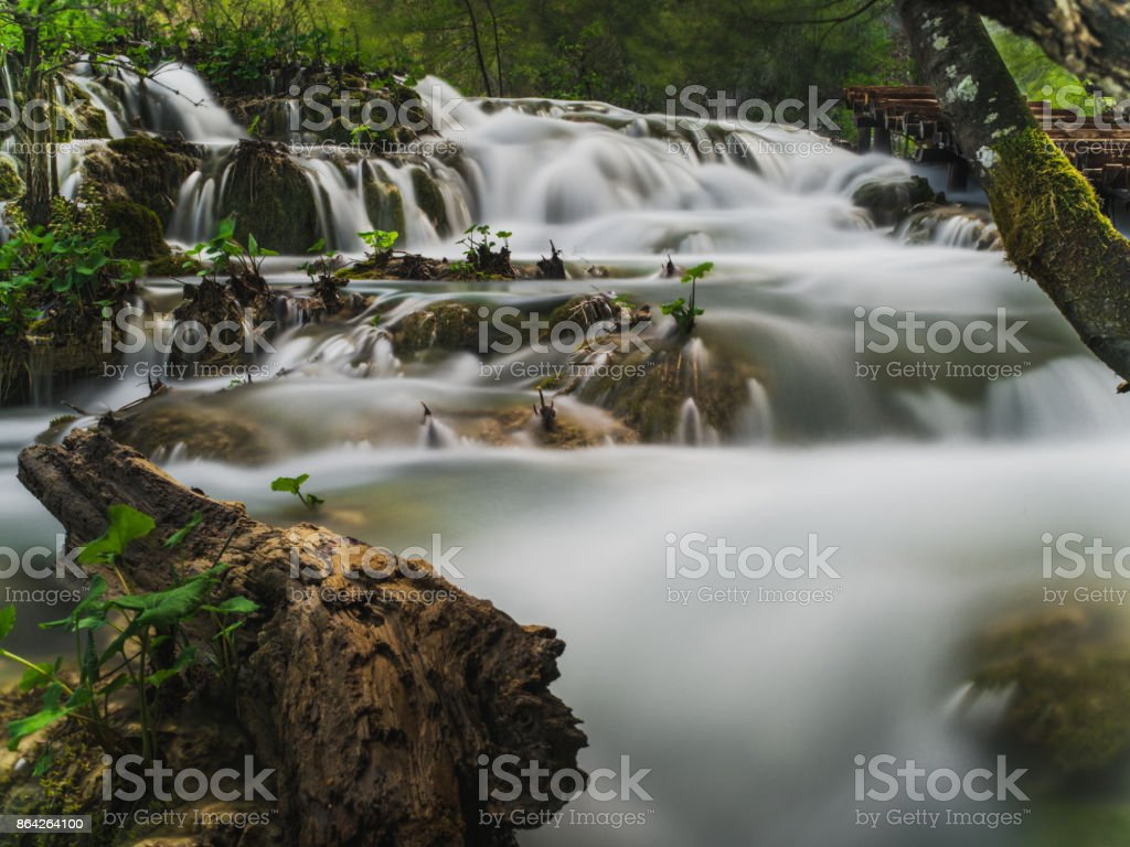 waterfalls in plitvice national park royalty-free stock photo