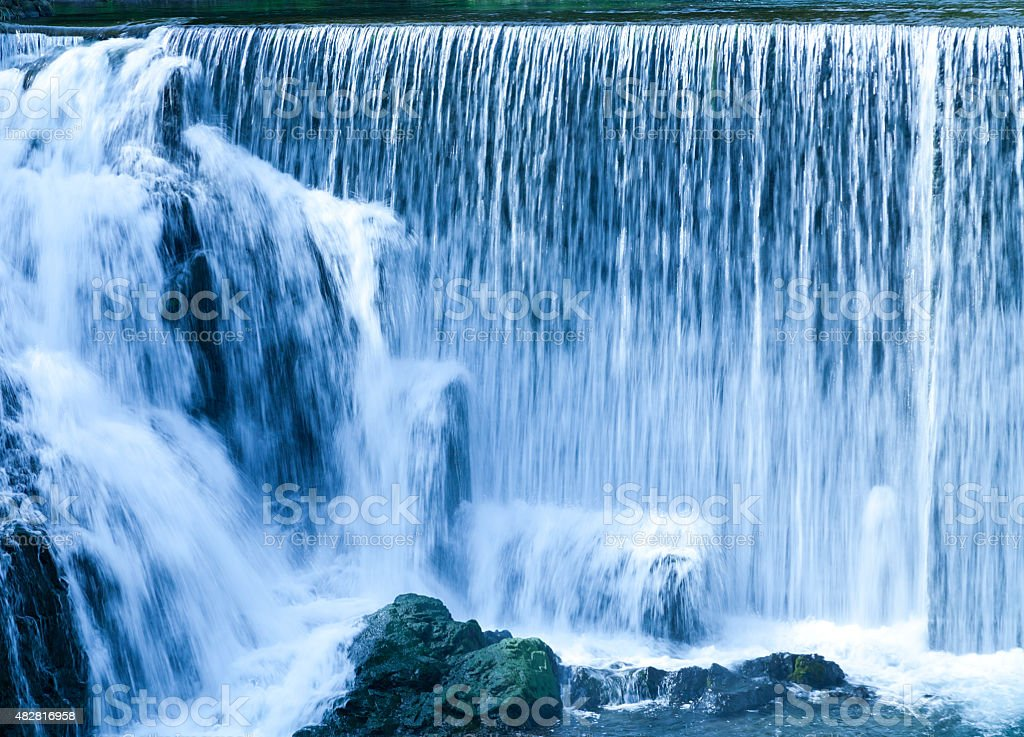 Waterfalls in summer stock photo
