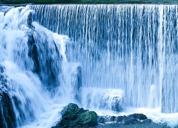 waterfalls in summer - waterfall stock photos and pictures