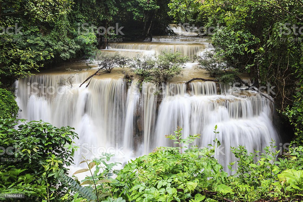 Waterfalls in thailand royalty-free stock photo
