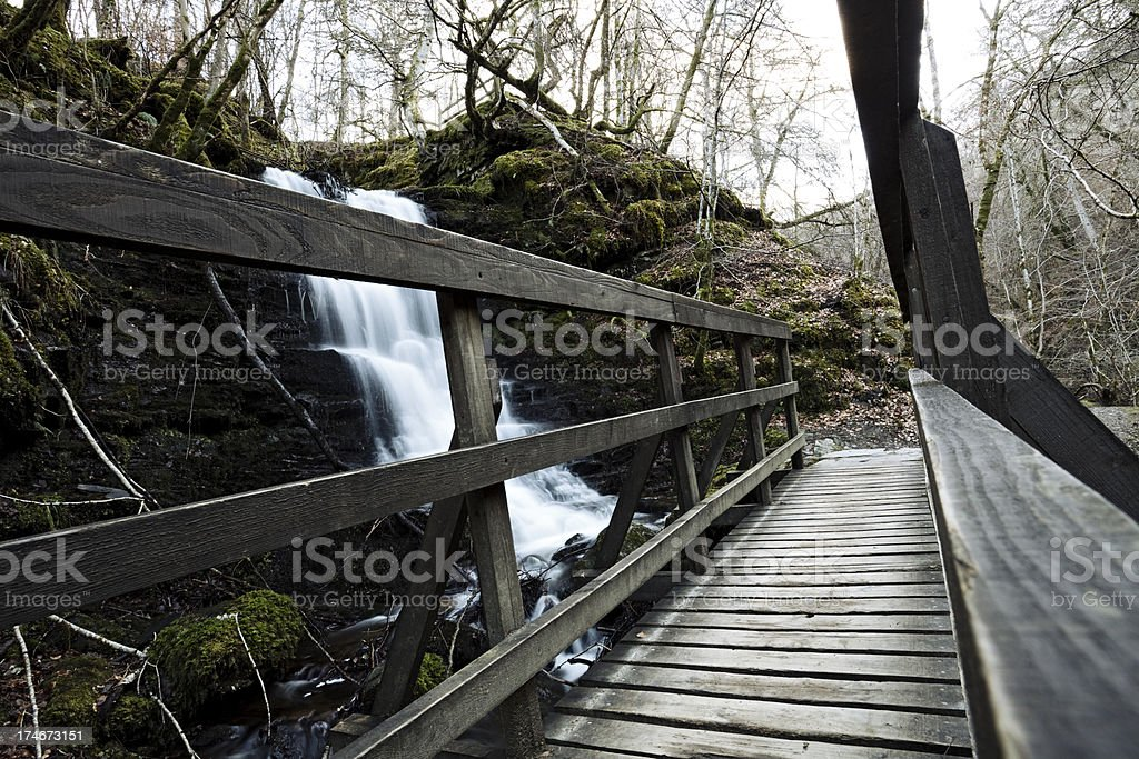Waterfalls in the Birks of Aberfeldy, Scotland stock photo