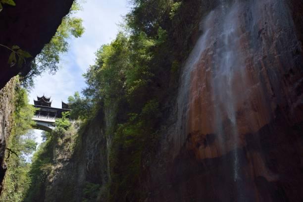 Wasserfälle in der Schlucht – Foto