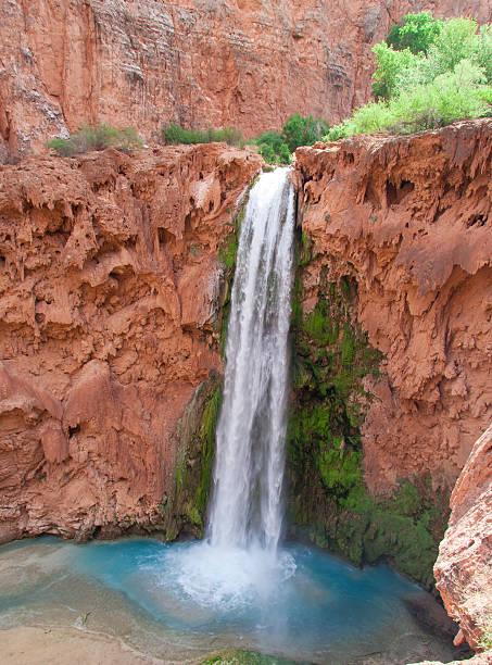 Waterfalls in the desert stock photo