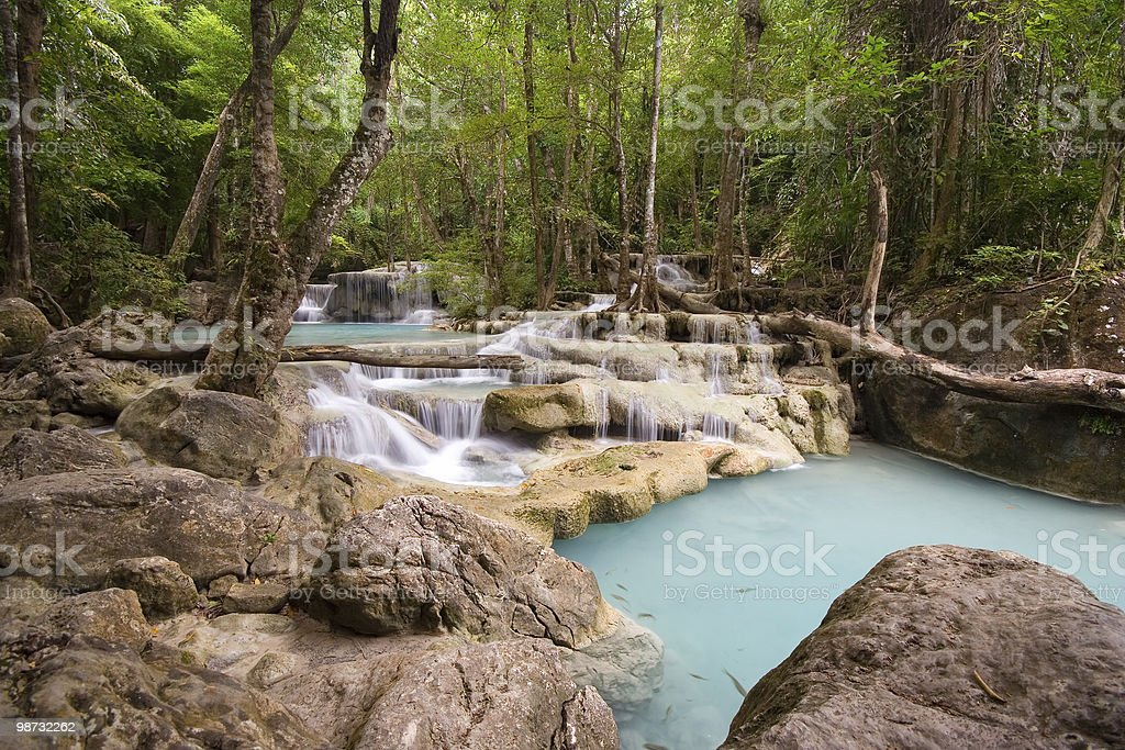 Waterfalls In The Jungle royalty free stockfoto
