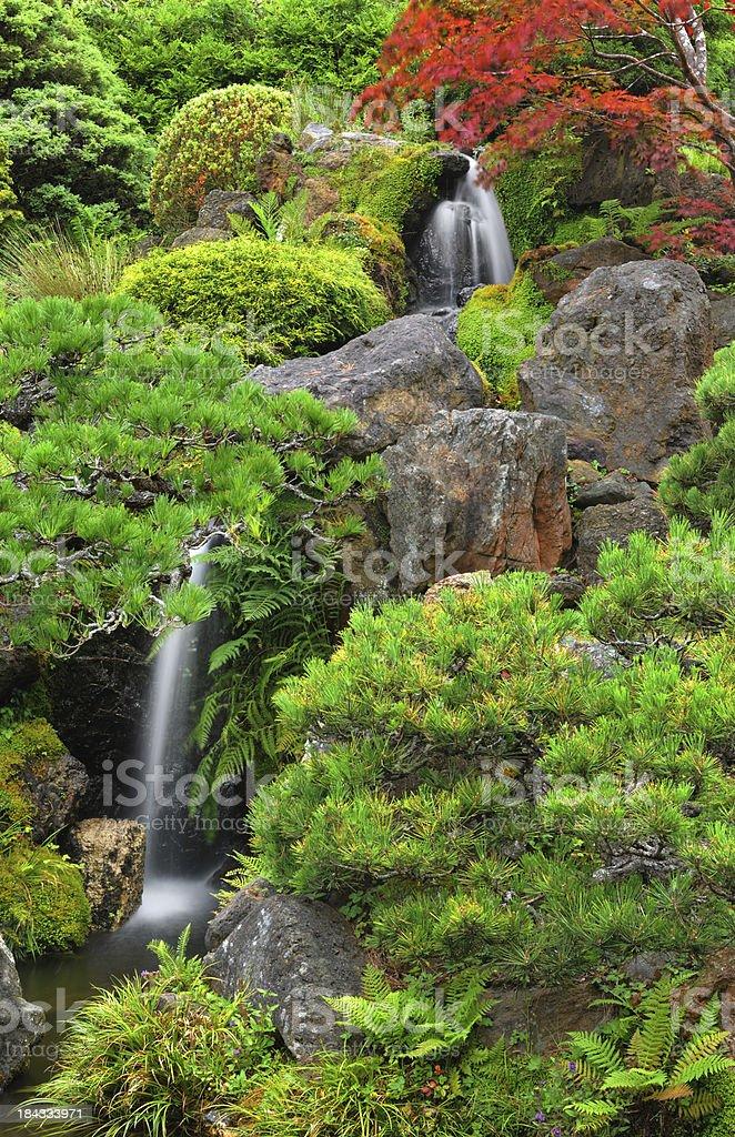 Waterfalls, Japanese Tea Garden royalty-free stock photo