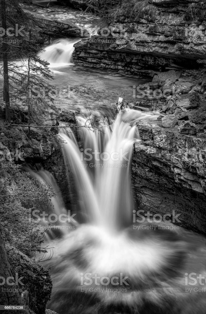 Waterfalls Johnston Canyon foto stock royalty-free