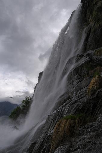 Waterfalls Of Acquafraggia Borgonuovo Di Piuro Sondrio Bregaglia Valley Lombardy Italy 23 — стоковые фотографии и другие картинки Без людей