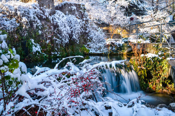 waterfalls of Edessa stock photo
