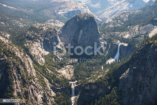 The splendors of Little Yosemite Valley, including the famous Vernal and Nevada waterfalls and granite canyon of the Merced River, California, western United States.