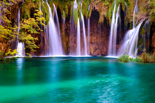 Waterfalls Of Plitvice National Park Stock Photo - Download Image Now