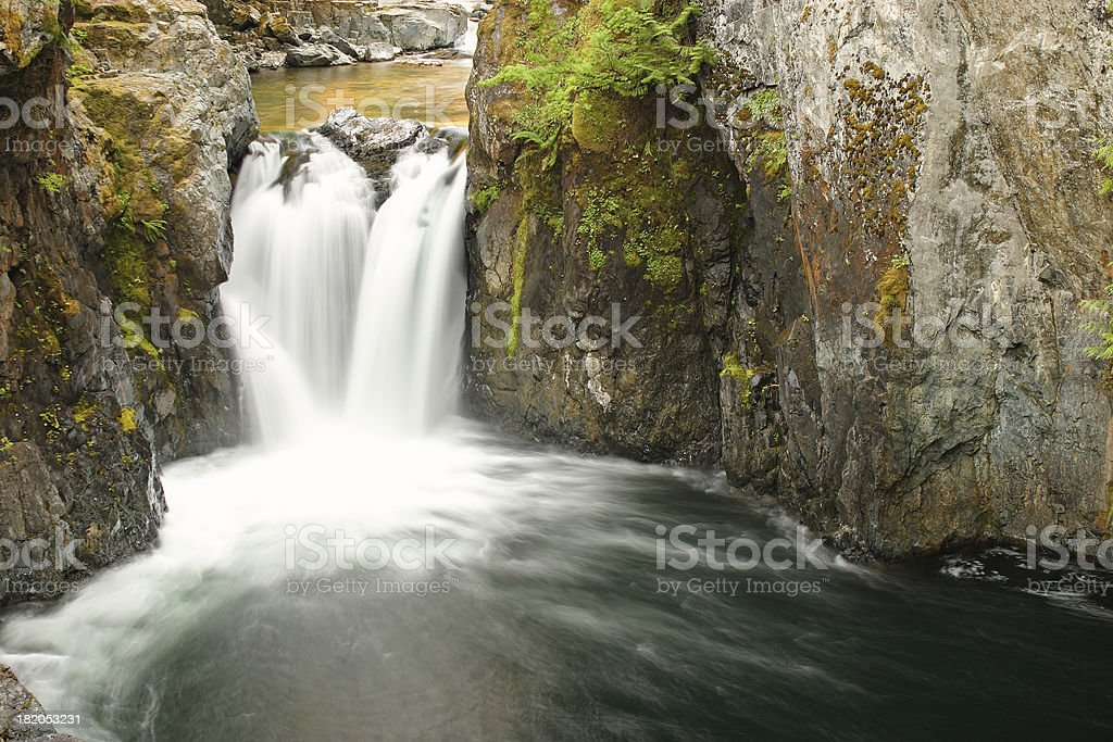 Waterfalls of Vancouver island stock photo