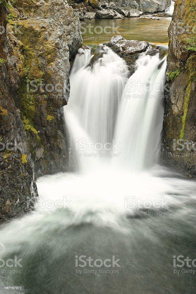 Waterfalls of Vancouver island stock photo