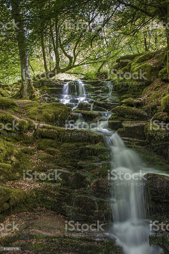 Waterfalls on Scottish Stream stock photo