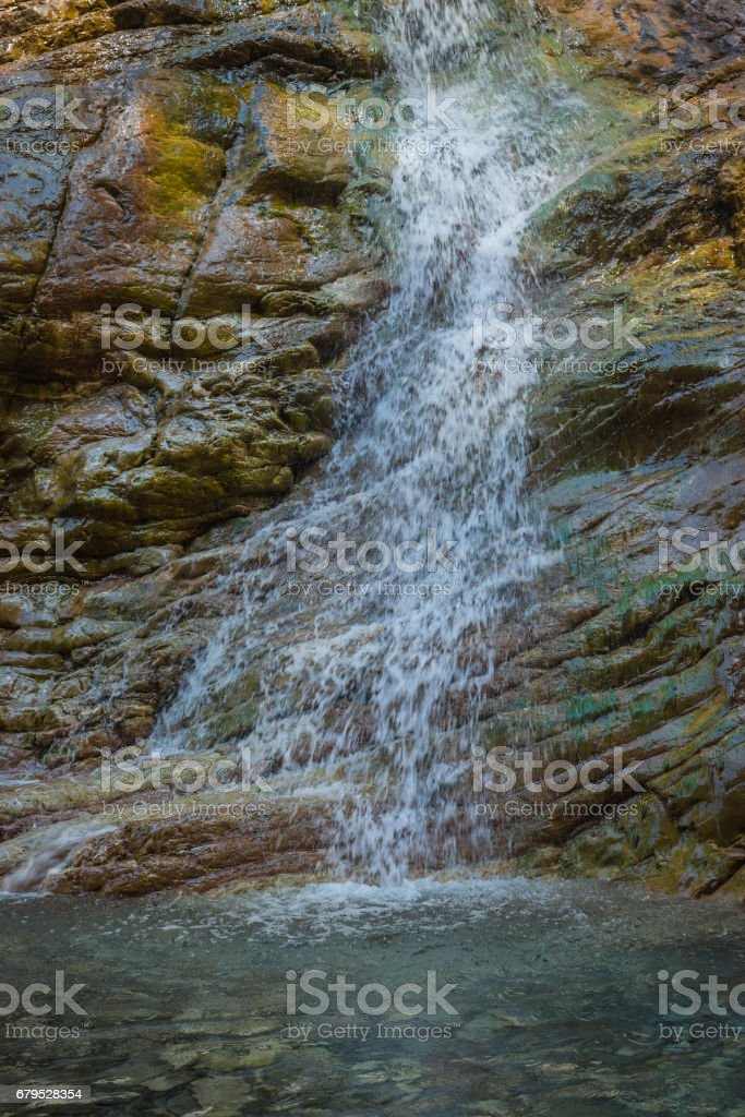 Waterfalls on the river Krikiliotis at Panta Vrexei in Evritania, Greece royalty-free stock photo